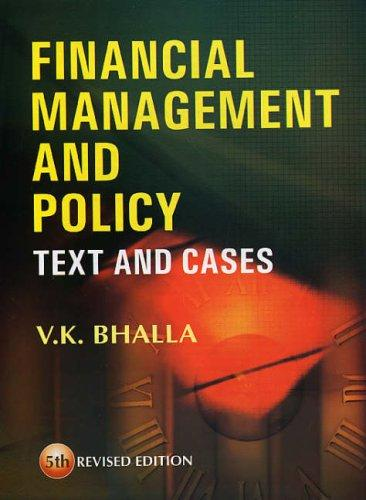 Financial Management and Policy
