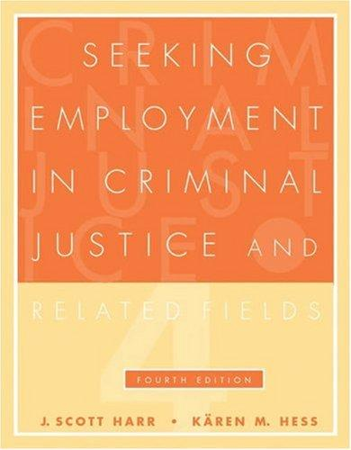 Download Seeking employment in criminal justice and related fields