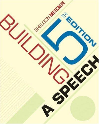 Building a speech by Sheldon Metcalfe