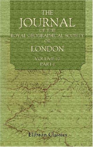 Download The Journal of the Royal Geographical Society of London