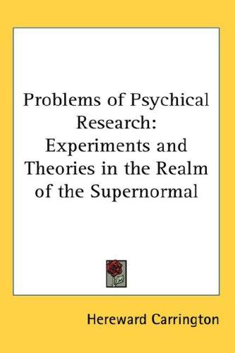 Download Problems of Psychical Research