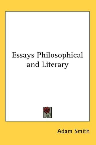Download Essays Philosophical and Literary