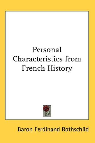 Personal Characteristics from French History