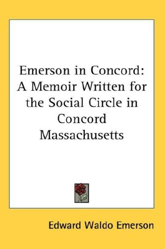 Emerson in Concord by Edward Waldo Emerson