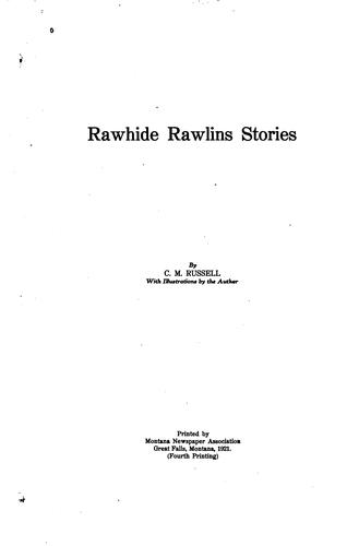 Rawhide Rawlins stories
