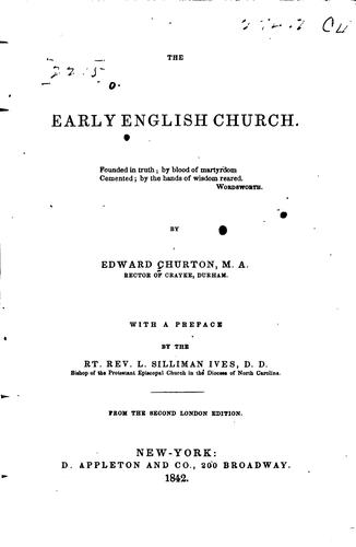 The early English church.