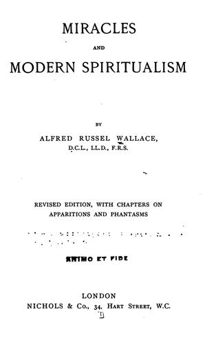 Miracles and modern spiritualism