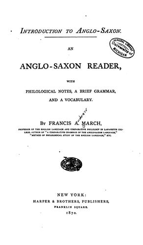 Download Introduction to Anglo-Saxon.