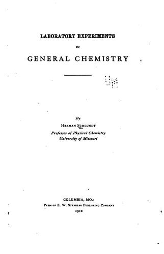 Download Laboratory experiments in general chemistry