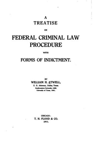 Download A treatise on federal criminal law and procedure