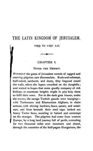 Download The Latin kingdom of Jerusalem, 1099 to 1291 A.D.