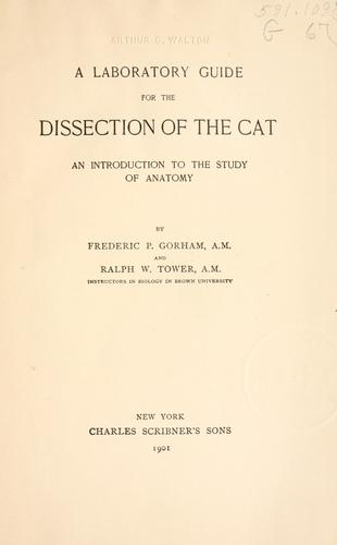 Download A laboratory guide for the dissection of the cat.