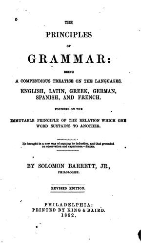 Download The principles of grammar