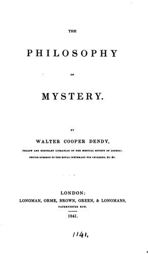 Download The philosophy of mystery.