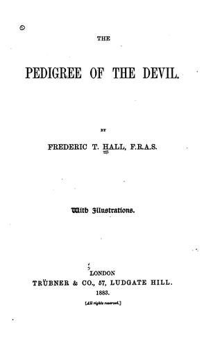 Download The pedigree of the devil.