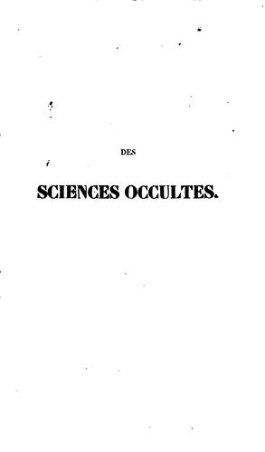 Download Des sciences occultes