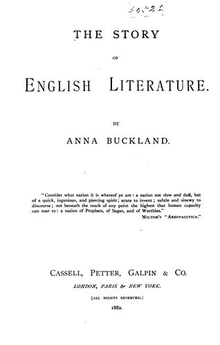 Download The story of English literature.