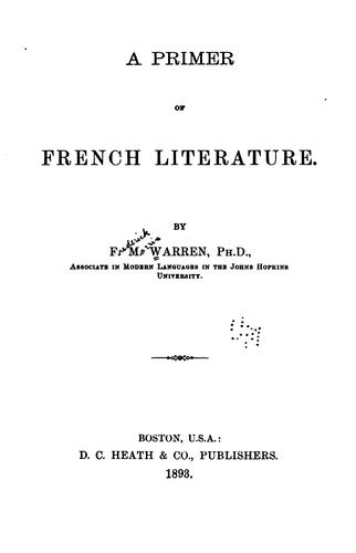 Download A primer of French literature