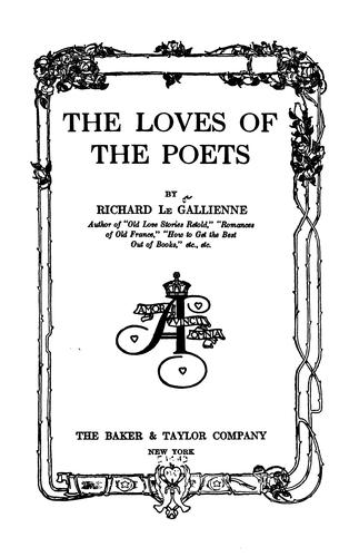 Download The loves of the poets