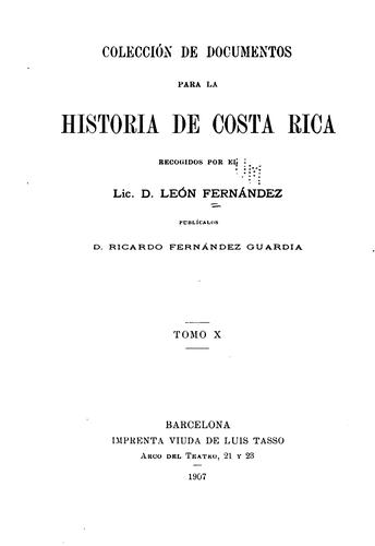 Download Colección de documentos para la historia de Costa-Rica