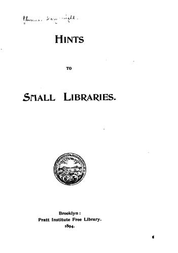 Download Hints to small libraries