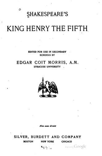 Download Shakespeare's King Henry the Fifth