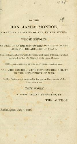 Historical sketches of the late war between the United States and Great Britain.