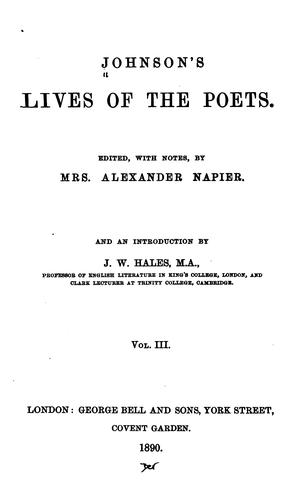 Download Johnson's Lives of the poets.