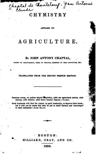 Download Chymistry applied to agriculture.