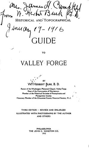 Download Historical and topographical guide to Valley Forge