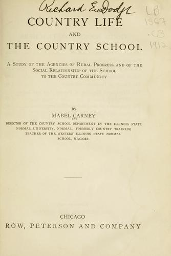 Country life and the country school