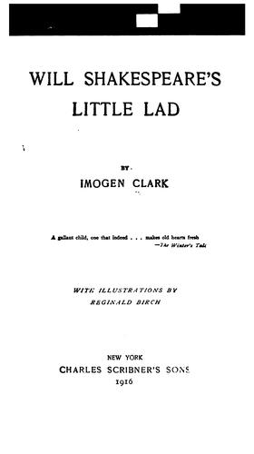 Download Will Shakespeare's little lad