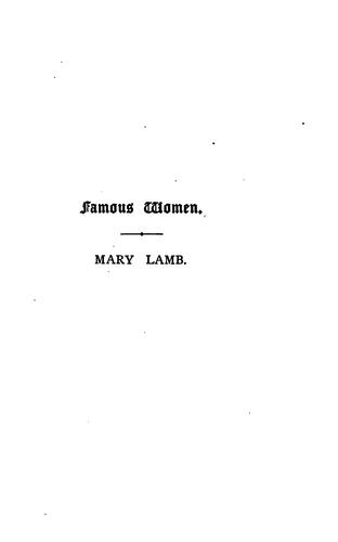 Download Mary Lamb.
