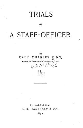 Download Trials of a staff-officer.