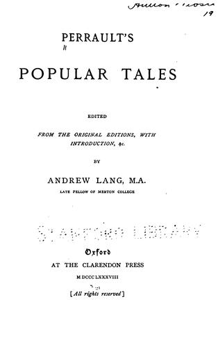 Download Perrault's popular tales