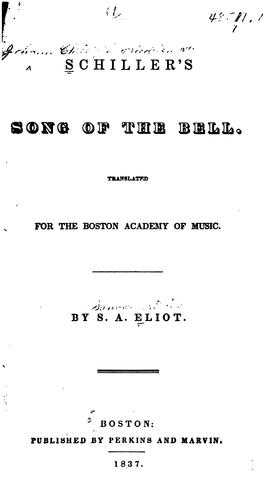 Download Schiller's Song of the bell.
