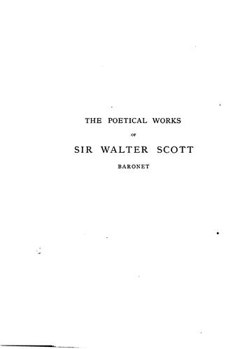 Download The poetical works of Sir Walter Scott, baronet