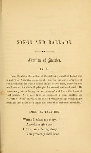 Songs and ballads of the American Revolution.