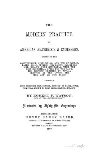 Download The modern practice of American machinists & engineers