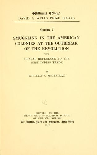 Smuggling in the American colonies at the outbreak of the Revolution