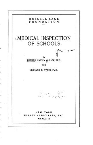 Download Medical inspection of schools