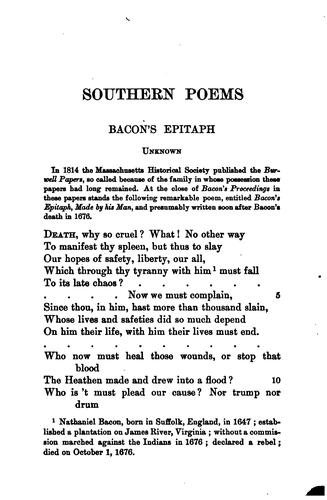 Download Southern poems