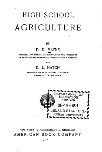 Download High school agriculture