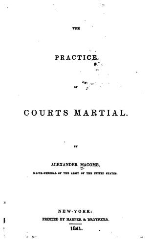 Download The practice of courts martial.