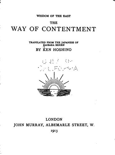 Download The way of contentment