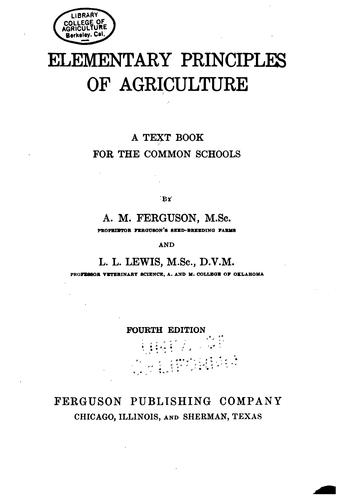 Download Elementary principles of agriculture