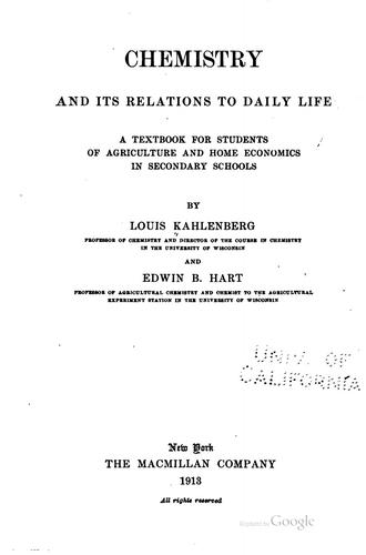 Download Chemistry and its relations to daily life