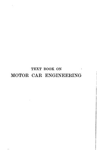 Text book on motor car engineering