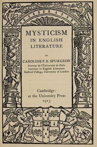 Mysticism in English literature.