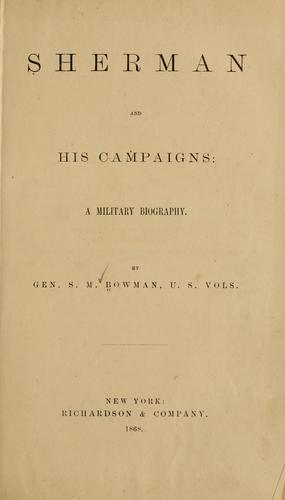 Download Sherman and his campaigns